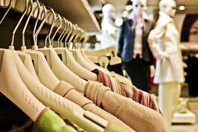 clothes ina shop