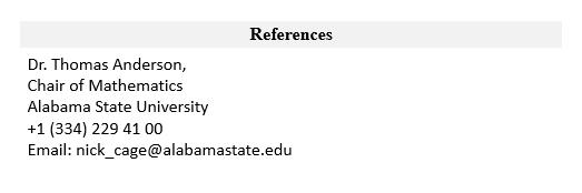 References student CV