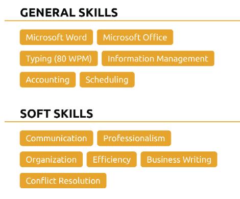 Skills in cv