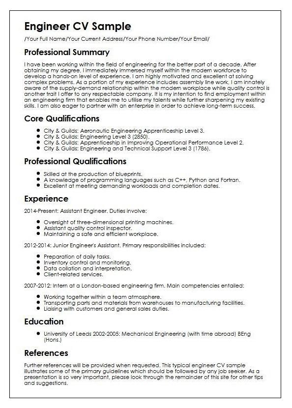 Write a Student CV
